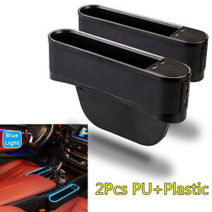 Universal Car Seat Side Organizer Pocket Black Pu plastic 4usb Ports Storage Box