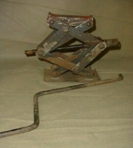 Vintage Scissor Car Jack 1 1 2 Ton Chevy Dodge Ford Jack With Crank Handle