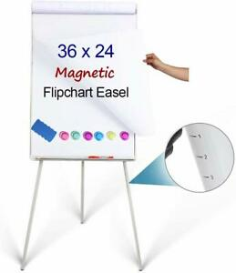 Magnetic Whiteboard Easel 24 X 36 height Adjustable Dry Erase Board Tripod Off
