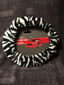 Driver S Choice Car Steering Wheel Cover Zebra Pattern Soft Warm Plush 15
