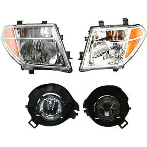 Headlight Kit For 2005 2008 Nissan Frontier Left And Right 4pc