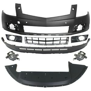 Bumper Cover Kit For 2010 12 Srx Models With Tow Hook Hole Front 8pc