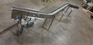 Stainless Conveyor S Curve Shape 6 Plastic Belt 22 6 Long Ironman 2 Hp