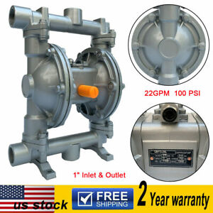 Air operated Double Diaphragm Pump 22gpm 1 Inlet Outlet Low Viscosity Fluids