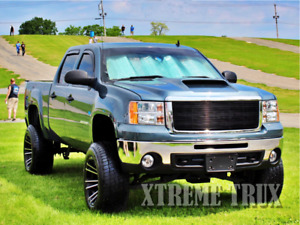 Black 07 13 Gmc Sierra 1500 Denali Powder Coated Aluminum Billet Grille