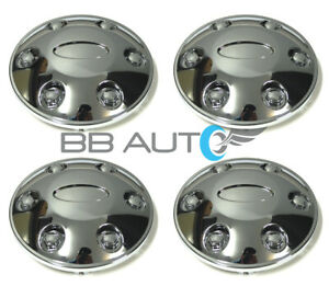 4 New Chrome Wheel Center Caps Set For 2004 2014 Ford F150 2007 2014 Expedition