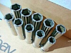 Snap On Tools 310tsm 1 2 Dr 10pc Metric Deep Flank Drive Socket Set 10 12 20mm