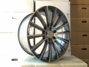 4 Set Of Brand New S550 Style 19 Amg Gunmetal Rims Wheels Fits Mercedes Benz