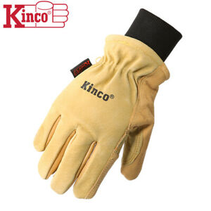 Kinco 901 Mens Leather Ski Gloves Heatkeep Winter Work Warm Thermal Pigskin M xl