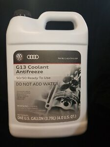 New Genuine Vw Audi Antifreeze Coolant G12 G13 50 50 Ready To Use