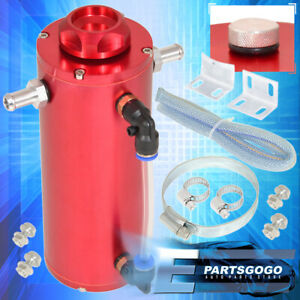 350ml Red Over Flow Overflow Catch Tank Radiator Coolant Aluminum Reservoir