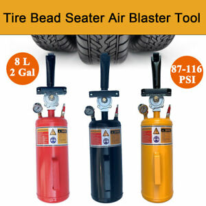 8l Portable Tire Bead Seater Air Blaster Tool Trigger Seating Inflator 116psi Us