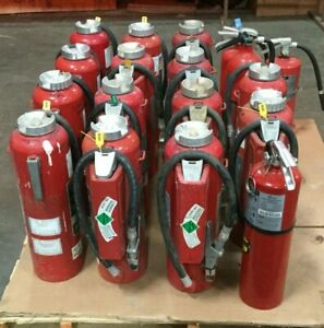 Lot Of 19 Fire Extinguishers Ansul A 20 e Kidde Buckeye Badger