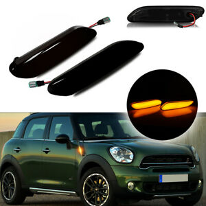 For 2011 2016 Mini Cooper R60 R61 Led Smoked Turn Signal Side Marker Lights