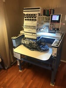 Happy 15 Needle Embroidery Machine And Items