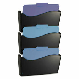 2200 Series Wall File System Letter Black 3 pack