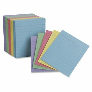 Ruled Mini Index Cards 3 X 2 1 2 Assorted 200 pack