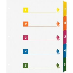 Business Source Color coded Table Of Contents tabs Index Dividers Printed Tab