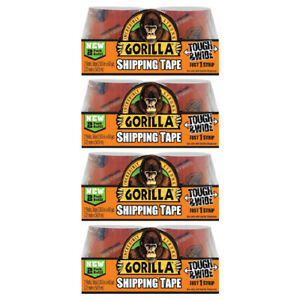 Gorilla Packaging Shipping Tape Clear 2 Refill Rolls Strong 2 83in Wide 4 Packs
