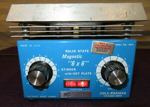 Cole Parmer Magnetic 6 X 6 Stirrer With Hot Plate Model 4812 used