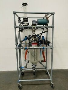 Sentinel Process System Skid W 20 L Jacketed Glass Reactor Condenser