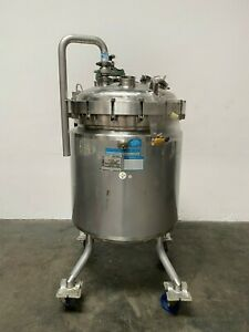 Paul Mueller 430 Liter 45 Psi Stainless Steel 75 Psi Jacketed Reactor W Mixer