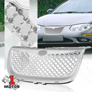 For 1999 2004 Chrysler 300m 3d Wave Mesh glossy Chrome Bumper Grille Vent Grill