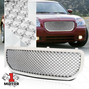 For 2005 2008 Dodge Magnum 3d Wave Mesh Glossy Chrome Bumper Grille Vent Grill