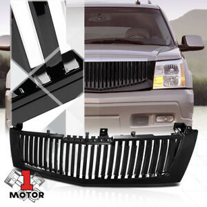 For 2002 2006 Cadillac Escalade vertical bar black Abs Bumper Grille Vent Grill