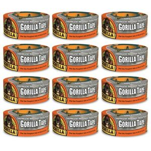 Gorilla Tape Silver Duct Tape 6071202 Strong Hand Tear 1 88 In X 12 Yd 12 pack
