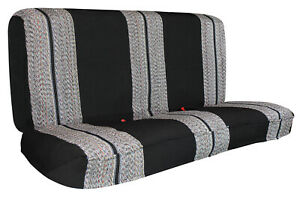 Full Size Pickup Truck Bench Seat Cover Saddle Blanket Fit For Chevy Black