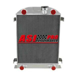 4 Row Aluminum Radiator For 1937 1938 Ford Flathead Flat Head Engine At mt Us