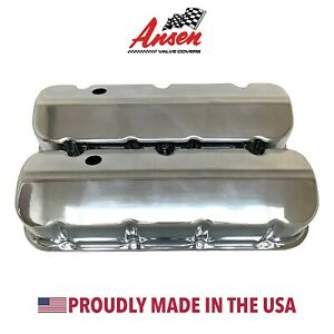 Big Block Chevy Valve Covers Bbc Die cast Aluminum Polished Ansen Usa