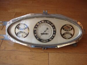 1933 Plymouth Deluxe Dash Cluster Rare