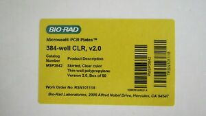 40 Bio rad384 well Microseal Pcr Plates Skirted Clear Msp3842