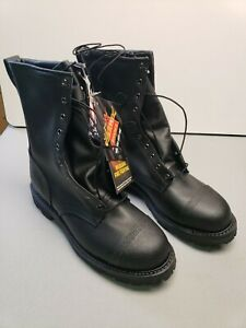 Thorogood Hellfire 10 Wildland With Front Zipper Boots 834 6373 Size 7 5w