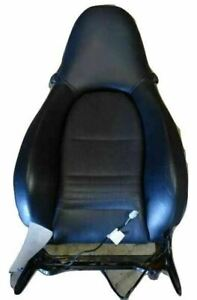 00 Porsche Boxster 986 Right Passenger Side Upper Seat Back Leather Black