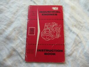 1958 Ford Industrial Engine Operator s Instruction Book Manual
