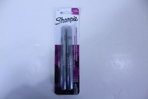 Sharpie Fine Point Metallic Silver Permanent Marker 2 Blister Packs Of 2 Markers