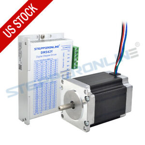 1 Axis Cnc Kit 1 9nm 269oz in Nema 23 Stepper Motor 2 8a 76mm Stepper Driver