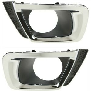 Fog Light Trim For 2014 2017 Subaru Forester Left And Right Set Of 2