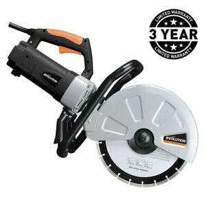 12 In Corded Concrete Saw Portable 15 Amp Electric Cutter Brick Stone Paving