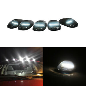 5pc Smoked Lens White Led Cab Roof Clearance Lights For 17 Up Ford F250 F350