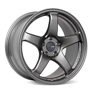 Enkei Pf05 18x8 5 Racing Wheel Wheels 5x100 5x114 3 Dark Silver