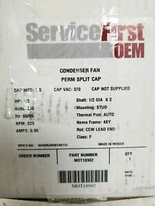 New Trane Mot18902 1 3hp 460v 825rpm 48 Psc Motor
