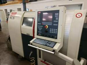 Reduced 2001 Traub Tnl 26 Cnc Swiss Type Lathe 9 Axis Live Tooling Star