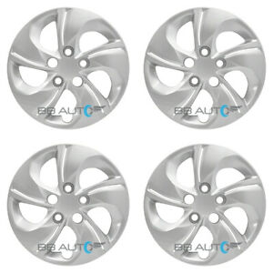 Set Of 4 New 15 Silver Bolt On Hubcaps Wheel Covers For 2013 2015 Honda Civic