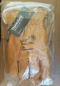 Thinsulate Insulated Leather Drivers Glove 378gobkl Made With Kevlar Size Large