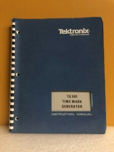 Tektronix 070 1576 02 Tg 501 Time Mark Generator Instruction Manual