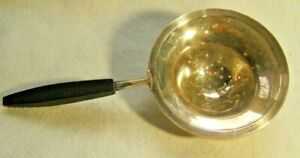 Large Sterling Silver Tea Strainer With Wood Handle